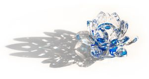 Clear Crystal Lotus Blossom Flower Royalty Free Stock Image