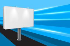 Clear 3d billboard template on abstract background. Vector illustration Stock Photos