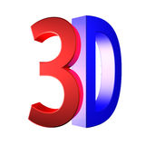 Clear 3D logo isolated on white background Royalty Free Stock Images