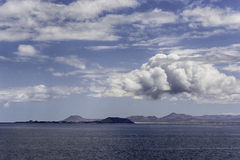 On a clear day Canary Islands  as seen from Lanzarote Stock Photos