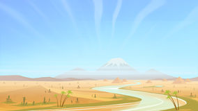 Clear day in the desert. royalty free illustration
