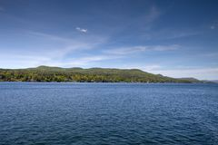 A clear day on Lake George Stock Image
