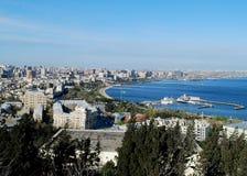 Clear Day Over Baku royalty free stock photos
