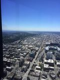 SkyView observatory. On a clear day Seattle Royalty Free Stock Images