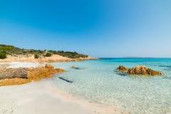 Clear day in Spiaggia del Principe. Beach, Sardinia Stock Image