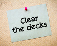 Clear the decks Royalty Free Stock Photos