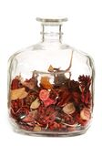 Clear decorative bottle Stock Photo
