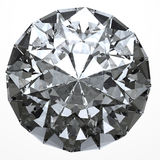 Clear diamond - top view Stock Image