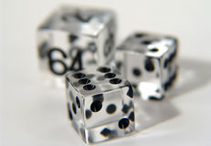 Clear Dice. Photo of Clear Dice - Part of Series stock image