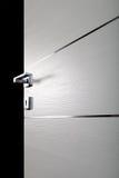 Clear door open d. Clear door open, with the handle, on black background stock photos