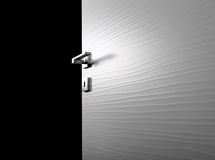 Clear door open g. Clear door open, with the handle, on black background stock photography