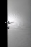 Clear door open h. Clear door open, with the handle, on white background royalty free stock photos