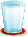 A clear drinking glass. Illustration of a clear drinking glass on a white background Royalty Free Stock Image