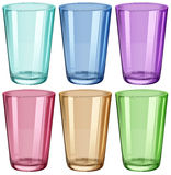 Clear drinking glasses Stock Photo