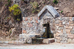 Clear drinking water source. South Corsica Stock Photos
