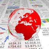 Clear europe globe on business report Stock Photo