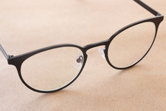 Clear eyeglasses black frame vintage style fashion Royalty Free Stock Photos