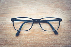 Clear Eyeglasses Glasses with Black Frame Fashion Vintage Style Royalty Free Stock Photo