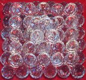 clear faceted glass spheres Royalty Free Stock Image
