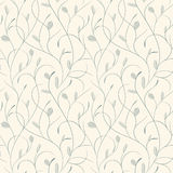 Clear floral blue on beige seamless pattern royalty free illustration