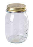 Clear food jar on the white background Stock Image