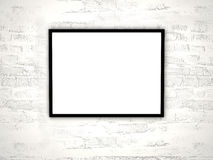 Clear frame. On a wall Royalty Free Stock Image
