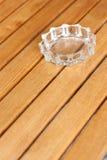 Glass ashtray Royalty Free Stock Photography