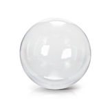 Clear glass ball 3D illustration. On white background vector illustration