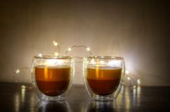 Clear Glass Candles Holders Royalty Free Stock Photo