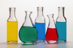 Clear Glass Chemical Bottle Royalty Free Stock Image