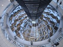 Clear Glass Dome Near People Standing on Aerial View Photography Royalty Free Stock Photo