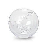 Clear glass globe 3D illustration Asia & Australia map royalty free illustration