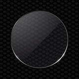 Glass lens on black honeycomb background Royalty Free Stock Image