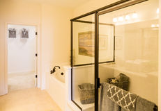 Clear Glass in New Shower Royalty Free Stock Image