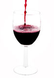 A clear glass of red wine Stock Image
