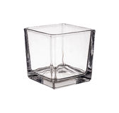 Clear glass vase isolated Stock Images