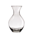 Clear glass vase isolated Royalty Free Stock Photo