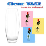 Clear glass vase Stock Photography