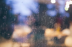 Clear Glass Viewing Water Teardrop during Night Time Royalty Free Stock Photos