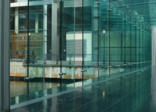 Clear glass wall Stock Photos