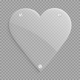 Clear heart icon Stock Photo