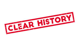Clear History rubber stamp Stock Photography