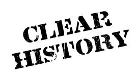Clear History rubber stamp Royalty Free Stock Image
