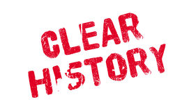 Clear History rubber stamp Stock Images