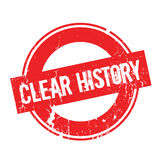 Clear History rubber stamp Stock Photos