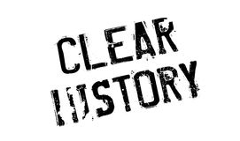 Clear History rubber stamp Stock Photo