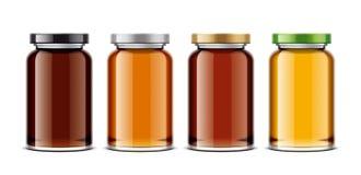 Clear Honey Jar mockup. Big size royalty free stock image
