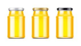 Clear Honey Jar mockup. Royalty Free Stock Photo