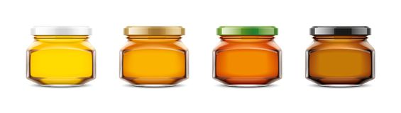 Clear Honey Jar mockup. Extra small size royalty free stock images