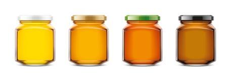 Clear Honey Jar mockup. Small size stock photos